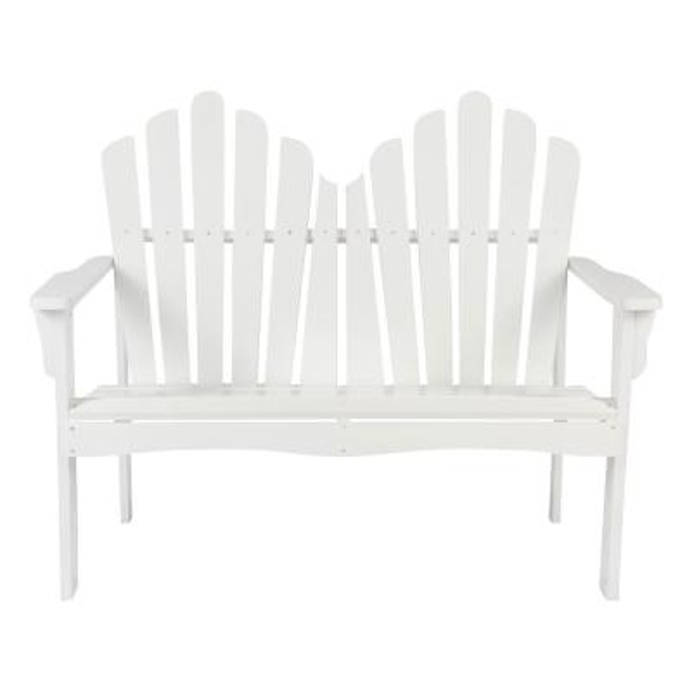 Westport Cedar Wood Outdoor Loveseat Bench 43.50 in. - White