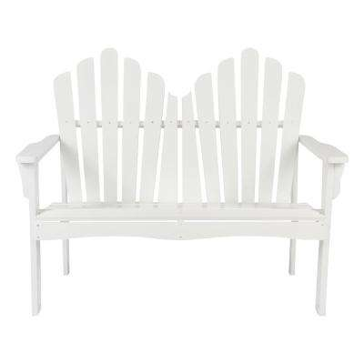 Westport Cedar Wood Outdoor Loveseat Bench 43.50 in. - White