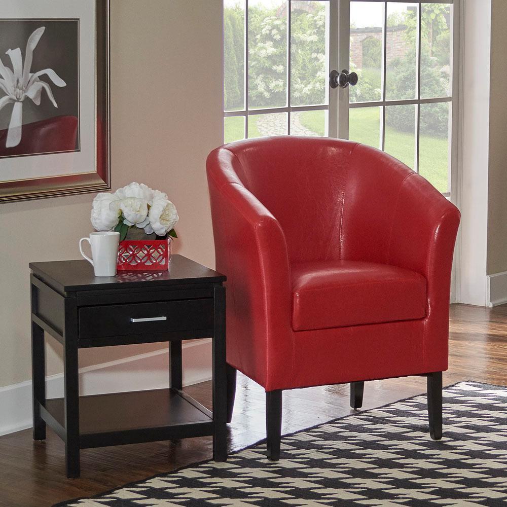 Simon Red Club Arm Chair