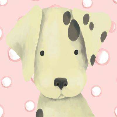 "10 in. x 10 in. ""Radley the Dalmatian - Pink"" by Meghann O'Hara Printed Canvas Wall Art"