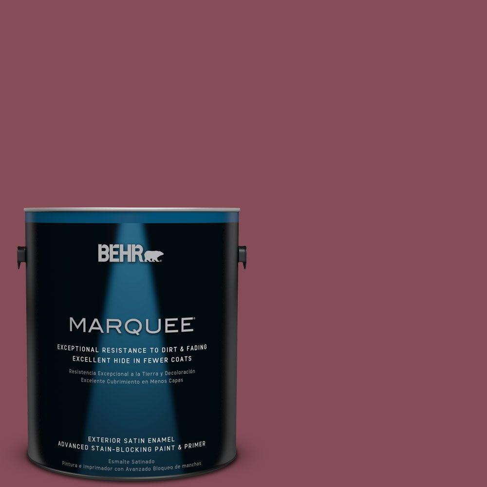 1-gal. #MQ1-2 Wine Not Satin Enamel Exterior Paint
