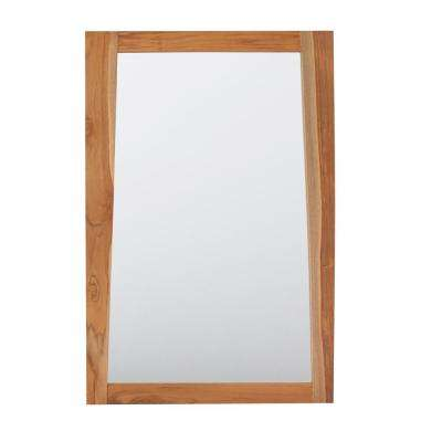 Significado 24 in. L x 35 in. H Single Solid Teak Framed Mirror In Natural Teak