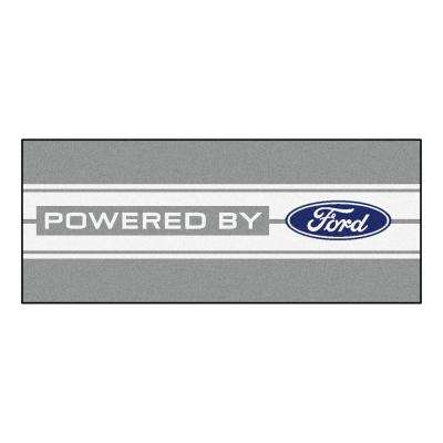 Ford - Built Ford Tough Blue 4 ft. 11.5 in. x 7 ft. 10.5 in. Indoor Area Rug