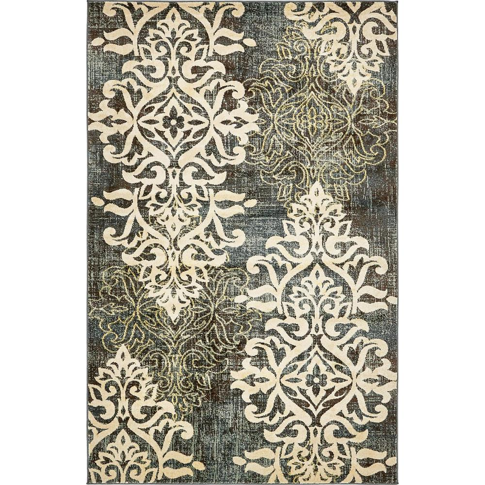 Blue And Brown Damask Rugs Area Rug Ideas