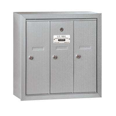 3500 Series Aluminum Surface-Mounted Private Vertical Mailbox with 3 Doors
