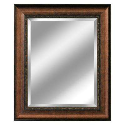 31 in. x 37 in. Embossed Distressed Mirror in Copper