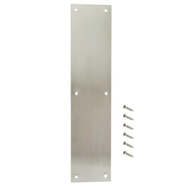 3-1/2 in. x 15 in. Stainless Steel Push Plate