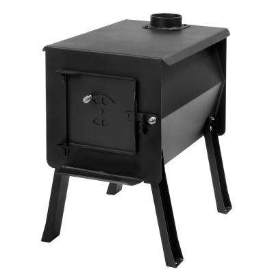 Survivor 2.7 cu. ft. Firebox Camp Stove Portable Charcoal Grill in Black