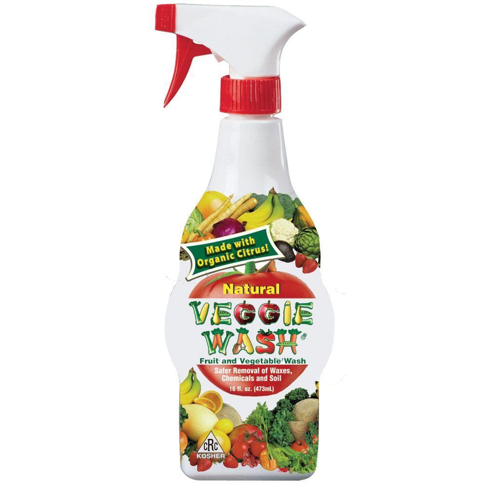 Veggie Wash 16 oz. All Natural Fruit and Vegetable Wash Disinfectant Sprayer (3-Pack)