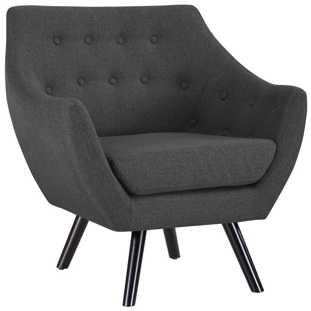 Linon Home Decor Gray Floral Polyester Arm Chair
