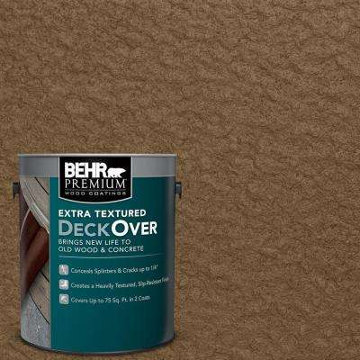 1 gal. #SC-109 Wrangler Brown Extra Textured Solid Color Exterior Wood and Concrete Coating