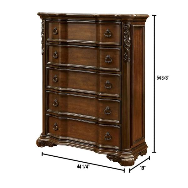 Arcturus Brown Cherry Traditional Style Chest of Drawers