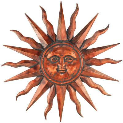 40 in. Copper Patina Sun