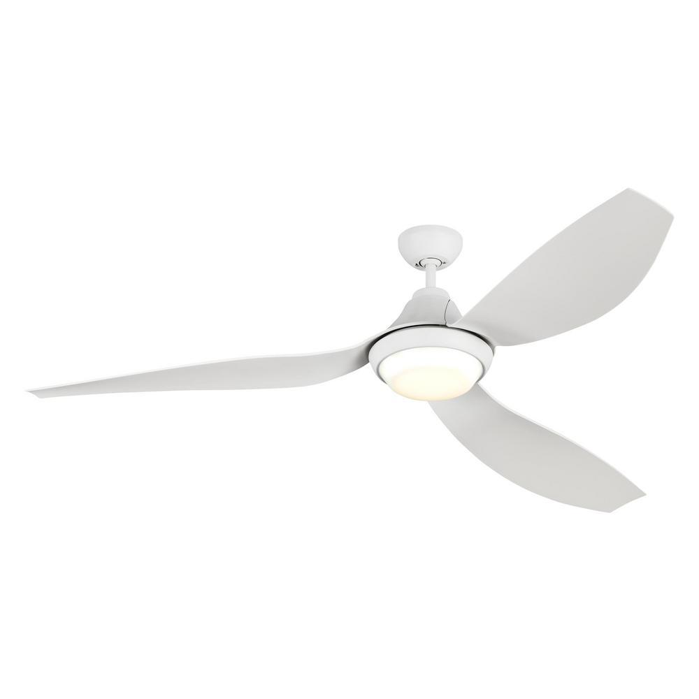 Monte Carlo Avvo Max 64 in. Integrated LED Rubberized White Ceiling Fan