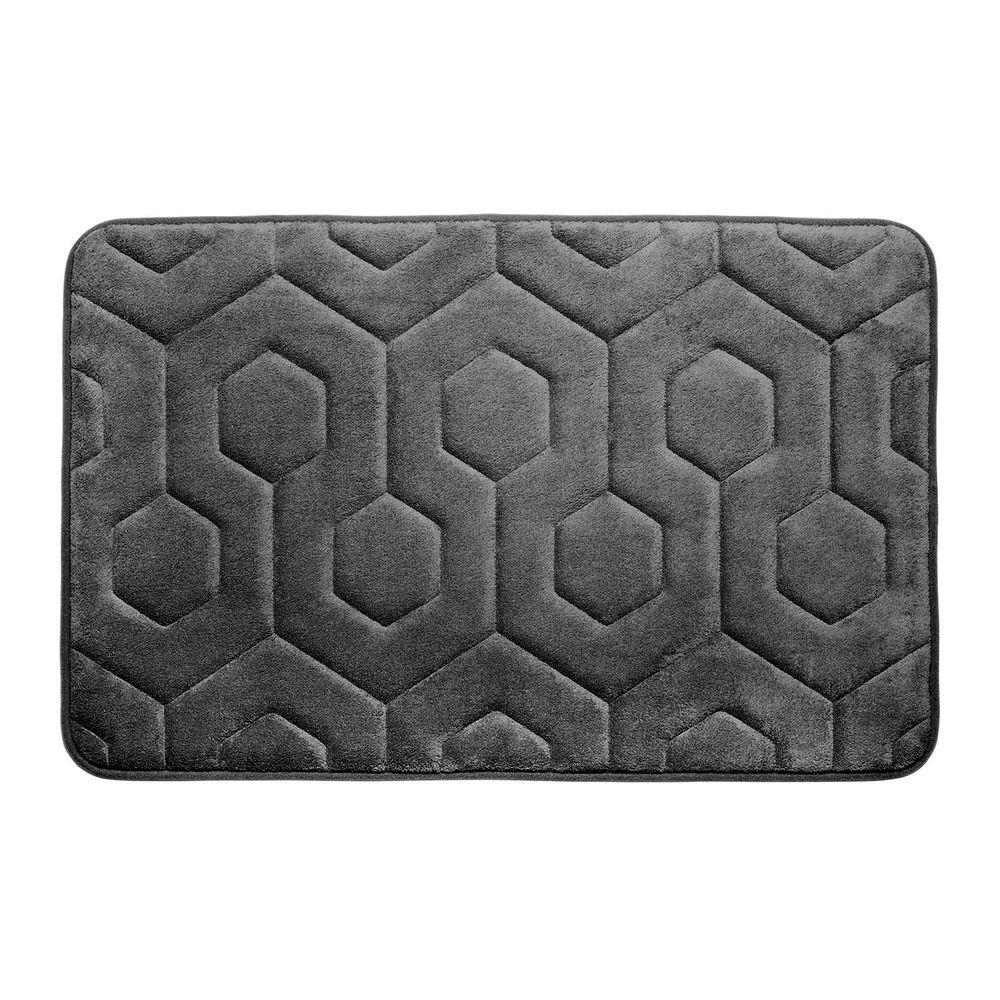 Bouncecomfort Hexagon Dark Gray 17 In X 24 In Memory