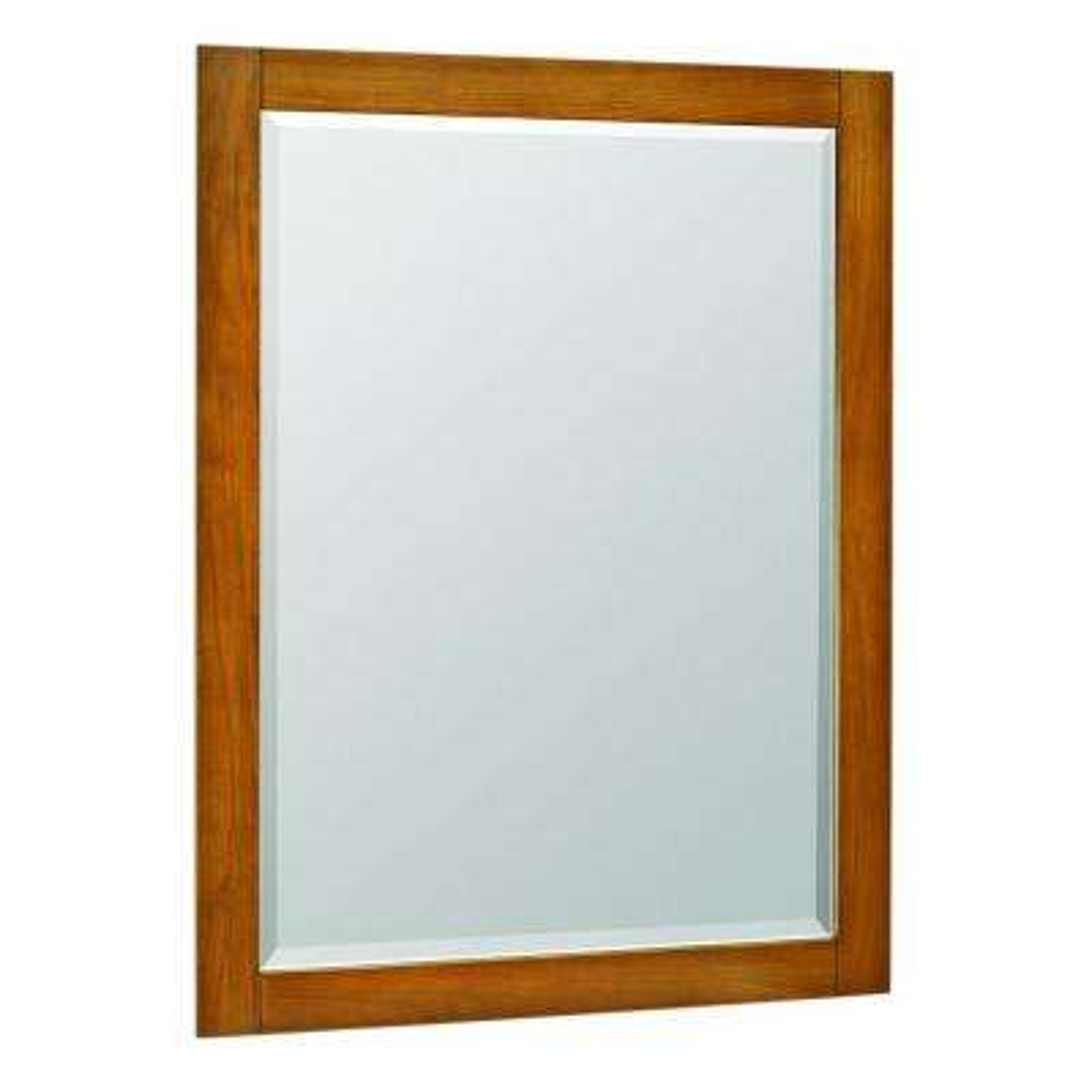 Palisades 40 in. L x 30 in. W Poplar Framed Wall-Mount Mirror in Bourbon Cherry