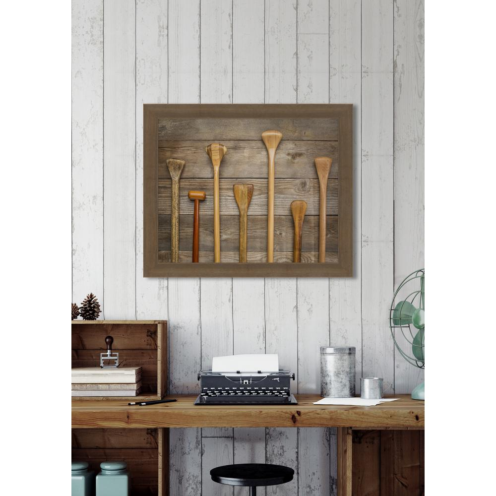 """35 in. x 29 in. """"Paddles"""" Framed Giclee Print Wall Art"""