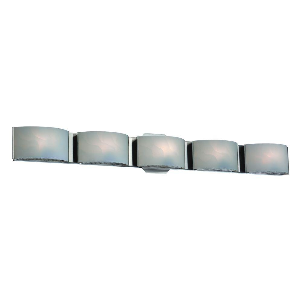 Eurofase Dakota Collection 5 Light Chrome Led Bath Bar