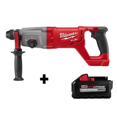 M18 FUEL 18-Volt Lithium-Ion Brushless Cordless in. SDS-Plus D-Handle Rotary Hammer with HIGH OUTPUT XC 8.0 Ah Battery