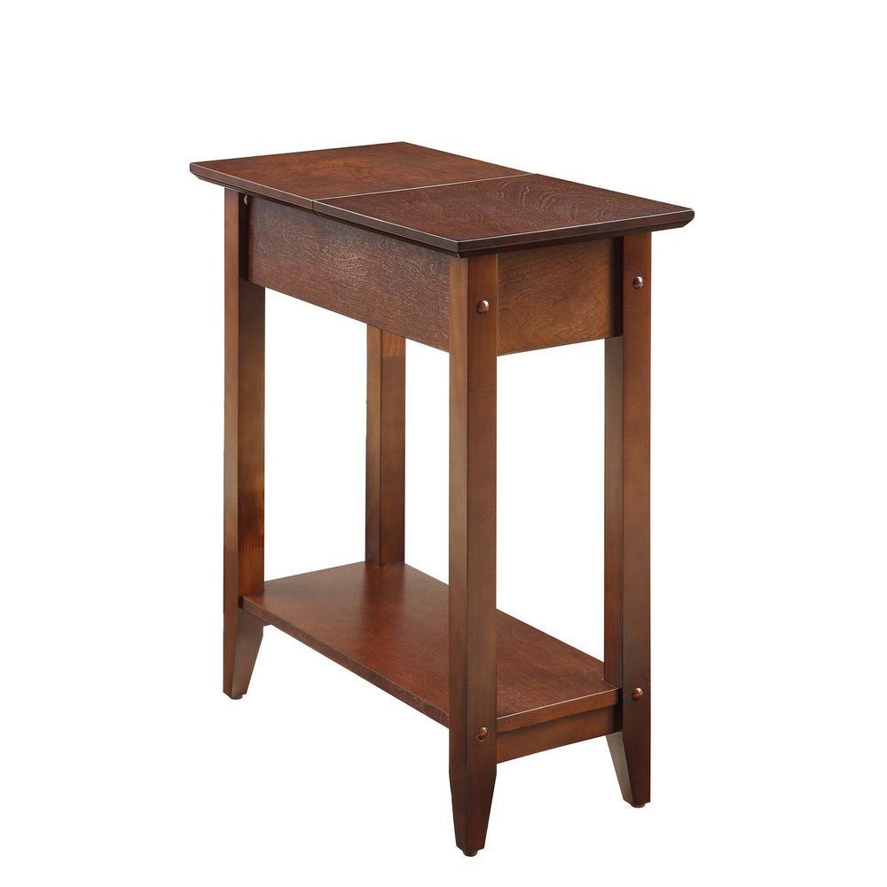 American Heritage Espresso Flip Top End Table