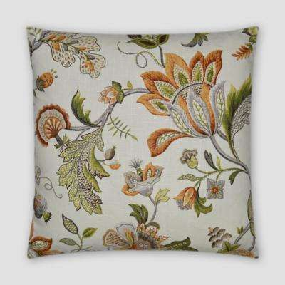 Brissac Amber Feather Down 20 in. x 20 in. Standard Decorative Throw Pillow