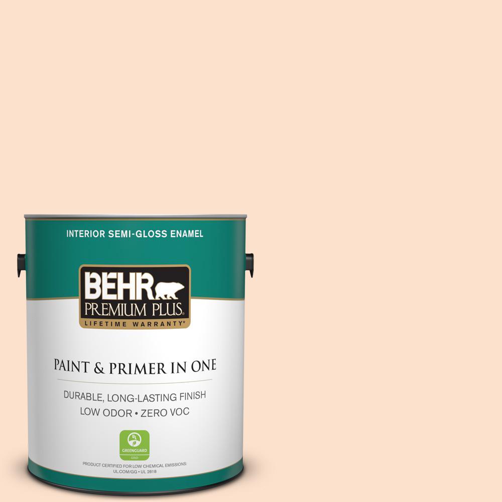 BEHR Premium Plus 1-gal. #P200-1 Melted Marshmallow Semi-Gloss Enamel Interior Paint