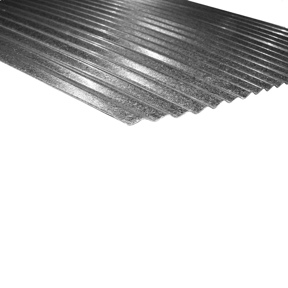8 ft. x 2-1/2 in. Corrugated Steel Roof Panel in Galvalume