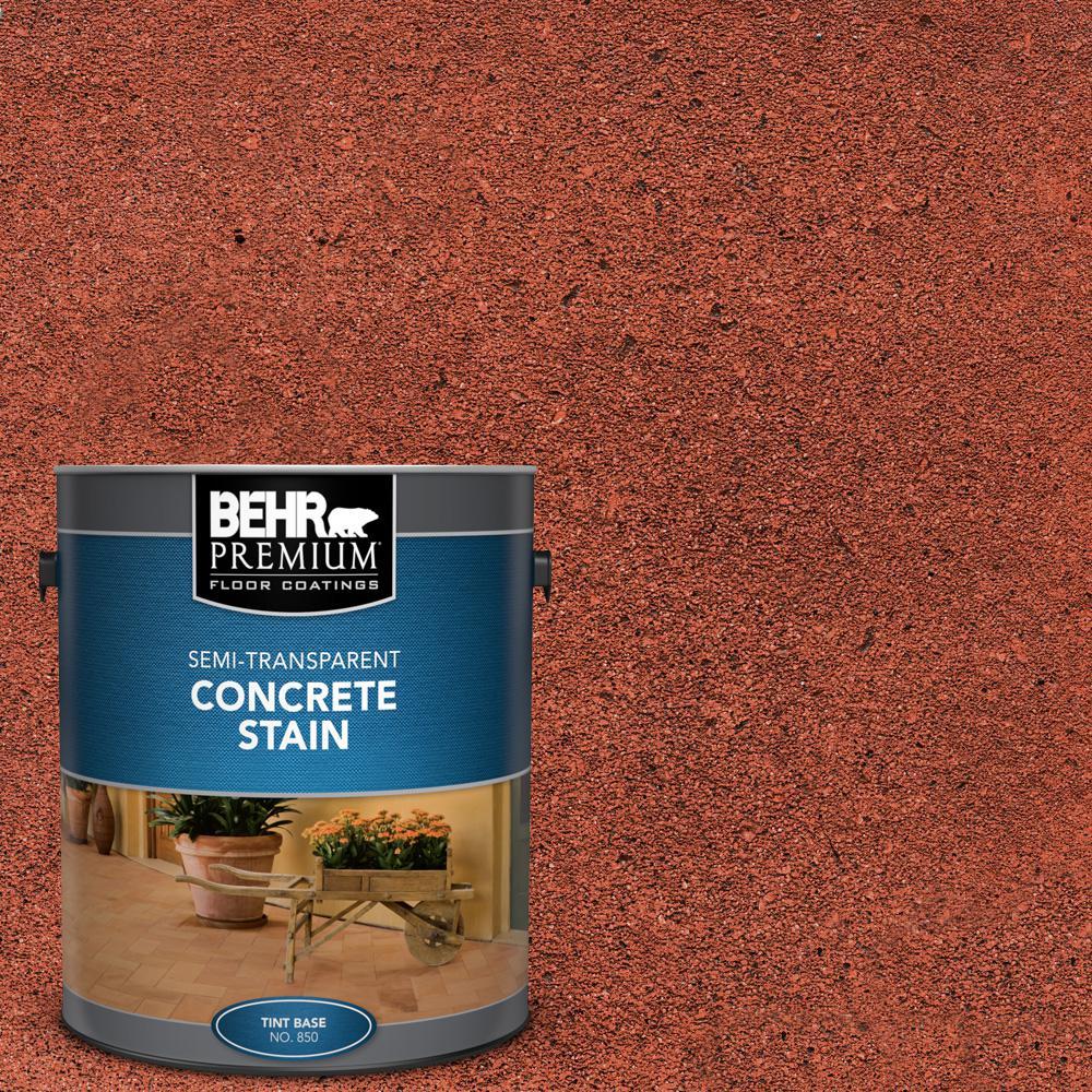 BEHR PREMIUM 1 gal. #STC-33 English Brick Semi-Transparent Flat Interior/Exterior Concrete Stain