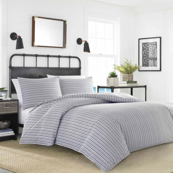 Nautica Coleridge Stripe 2-Piece Duvet Cover Set, Twin USHSFN1063600