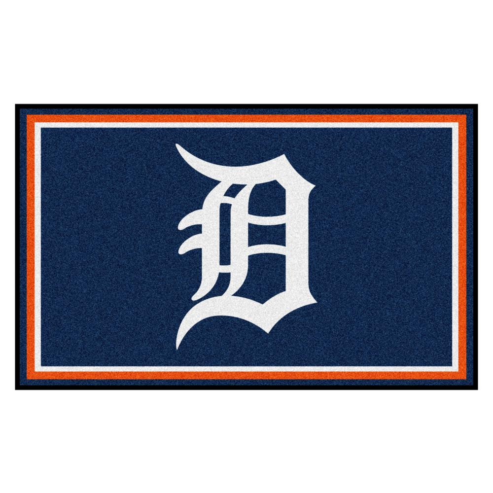 Fanmats Detroit Tigers 4 Ft X 6 Ft Area Rug 7057 The Home Depot