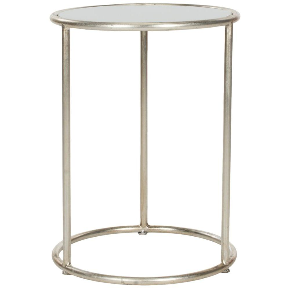 Southern Enterprises Baltimore Antique Silver End Table