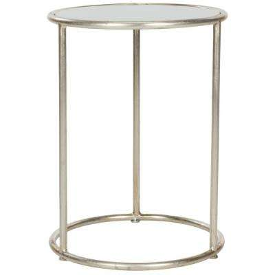 Shay Silver and Gray Glass Top End Table