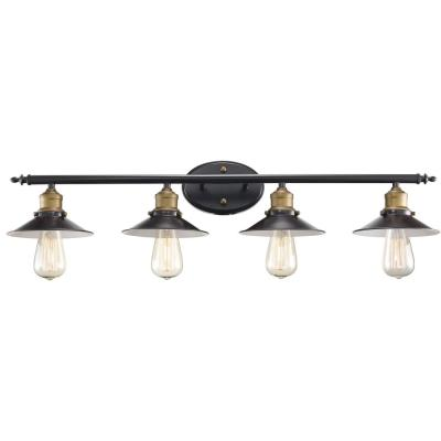 Griswald 4-Light Rubbed Oil Bronze Bath Light