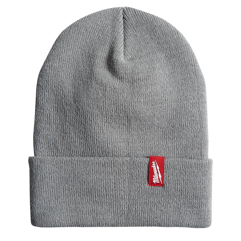 Men's Gray Acrylic Cuffed Beanie Hat