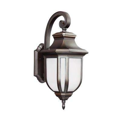 Childress 1-Light Antique Bronze 21.25 in. Wall Lantern Sconce