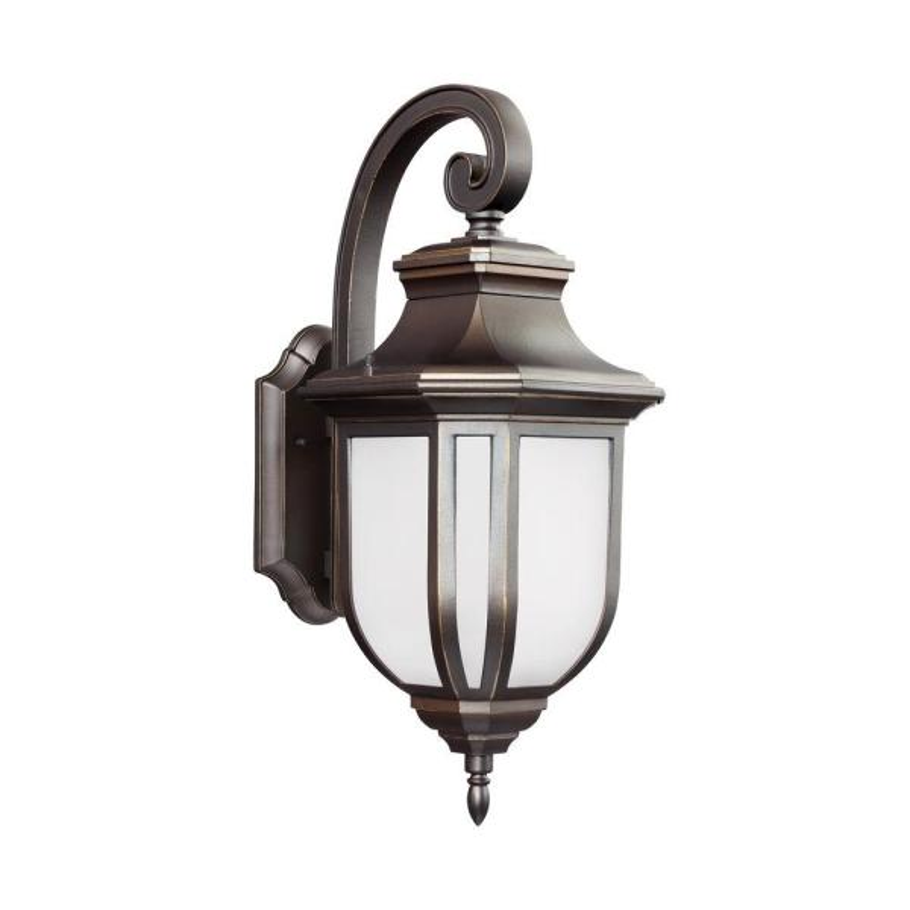 Childress 1-Light Antique Bronze 21.25 in. Wall Lantern Sconce