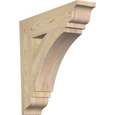 4 in. x 18 in. x 18 in. Douglas Fir Thorton Traditional Rough Sawn Bracket