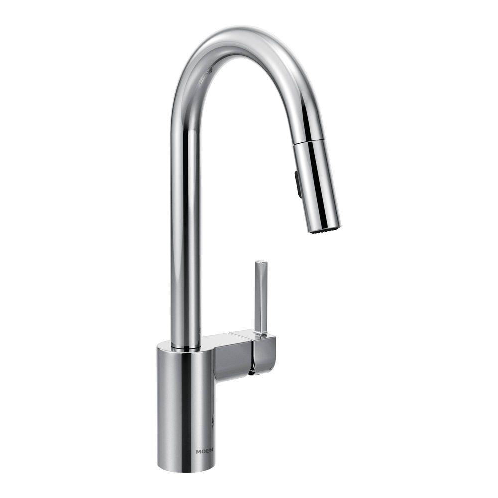Moen Kitchen Faucets White Moen Align Singlehandle Pulldown Sprayer Kitchen Faucet With