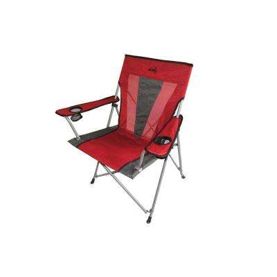 37.5 in. H Portable Folding Red Chair