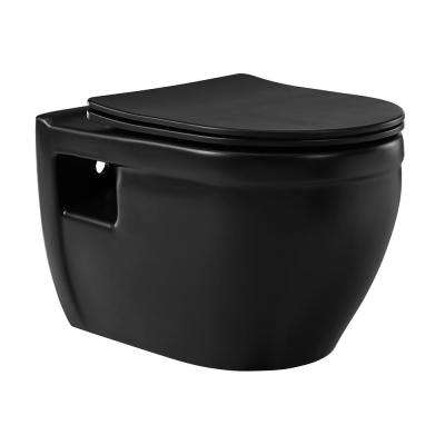 Ivy Elongated Toilet Bowl Only in Matte Black
