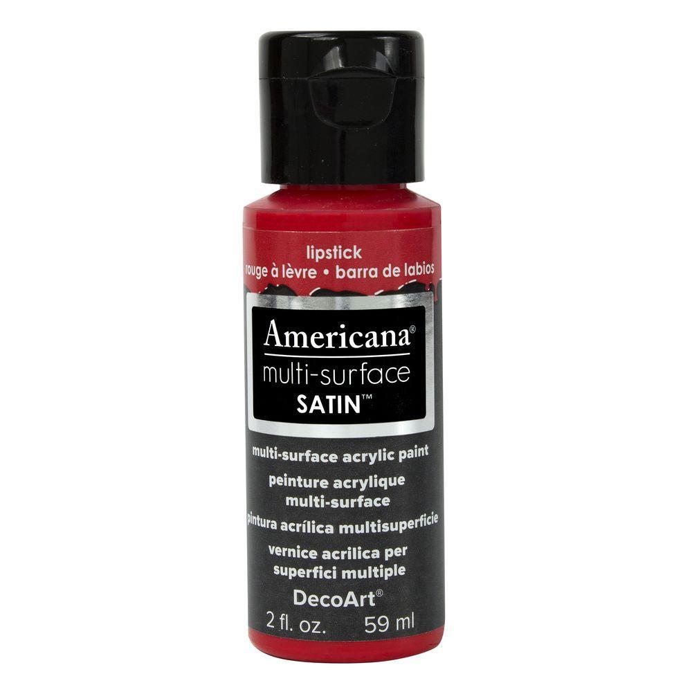 Americana 2 oz. Lipstick Satin Multi-Surface Acrylic Paint