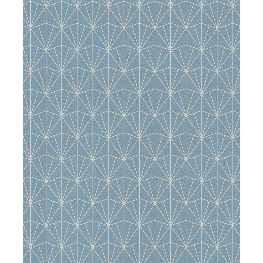 8 in. x 10 in. Frankl Blue Geometric Wallpaper Sample