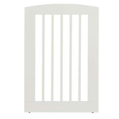 Ruffluv 36 in. H Wood Single Panel White Pet Gate
