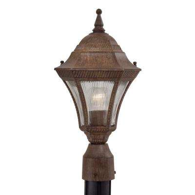 Segovia 1-Light Vintage Rust Outdoor Post Lantern