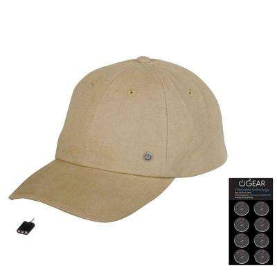 Coin Battery Hat with Attachable LED Light, Stone