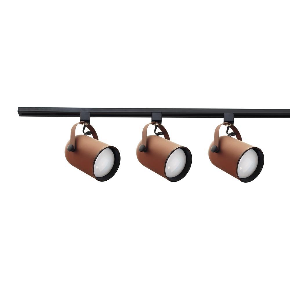 4 ft. 3-Light Bronze Track Lighting Kit