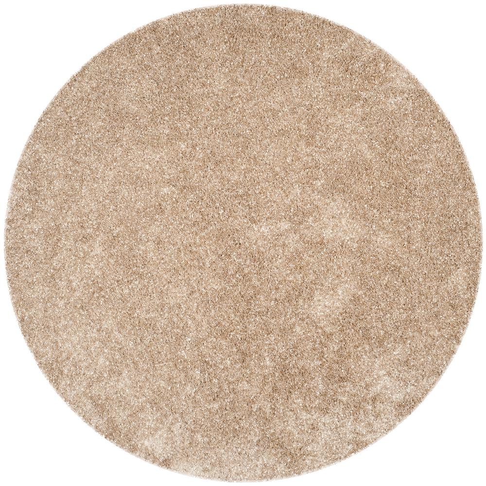 safavieh malibu shag natural 7 ft x 7 ft round area rug mls431n 7r the home depot. Black Bedroom Furniture Sets. Home Design Ideas