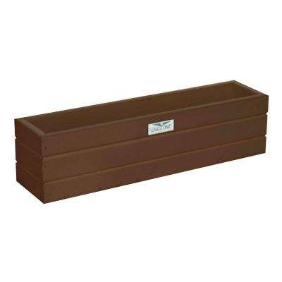 21.5 in. x 5 in. x 5.5 in. Brown Recycled Plastic Commercial Grade Window Box Planter