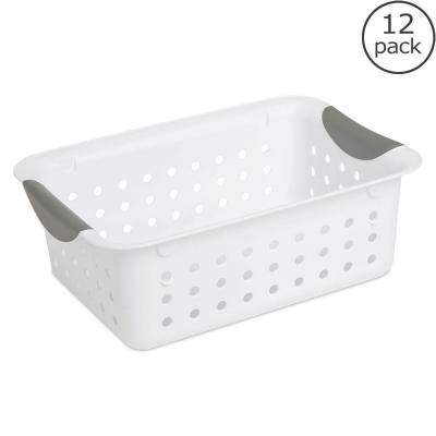 Small Ultra Storage Plastic Basket (12-Pack)