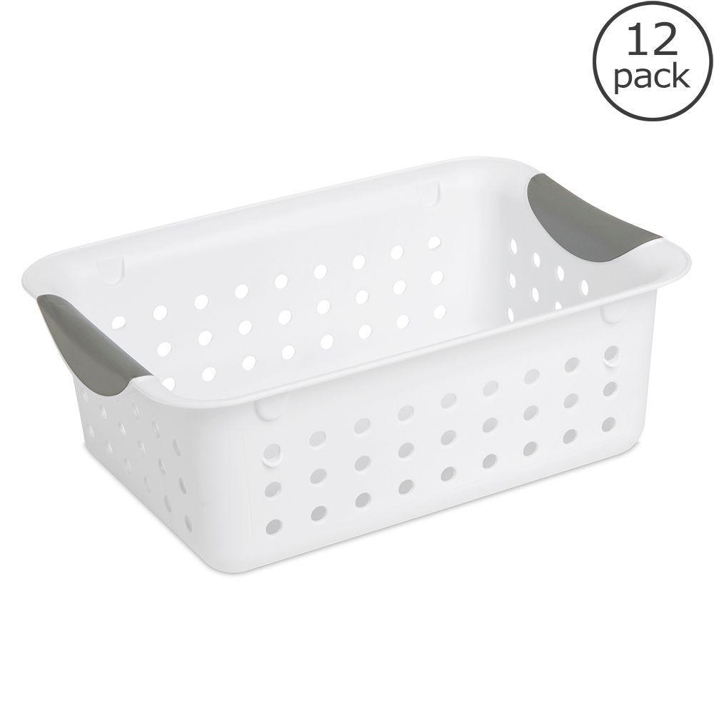 Small Ultra Storage Plastic Basket (12-Pack)
